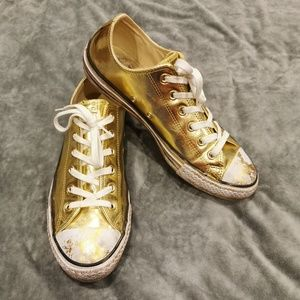 Converse | Shiny Gold Chuck Taylor Oxford Sneakers
